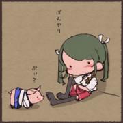 ぼんやりする瑞鶴と気遣う加賀さん