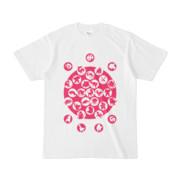 シンプルデザインTシャツ M_Ladybird(MAGENTA)