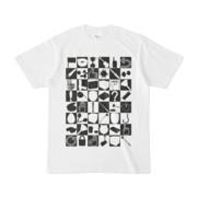 シンプルデザインTシャツ 四八シュプール(BLACK)