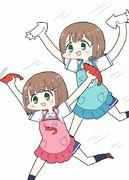 杵崎ほまれちゃんと杵崎あかねちゃん