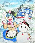 元気な雪っ娘の天人様
