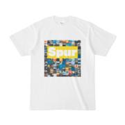 シンプルデザインTシャツ Spur_BOX104(YELLOW)