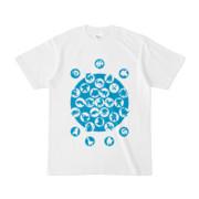 シンプルデザインTシャツ M_Ladybird(CYAN)