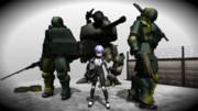 パイロットと歩行戦車と歩兵無人機
