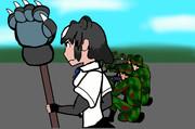 国防軍兵士とヒグマ