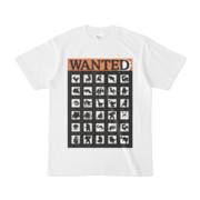 シンプルデザインTシャツ WANTED MONSTER(BLACK)