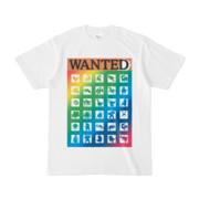 シンプルデザインTシャツ WANTED MONSTER(RAINBOW)