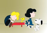 Schroeder, Lucy and Snoopy