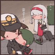 ほんの一瞬だけ不機嫌そうな表情をする翔鶴姉ぇ