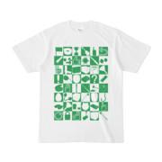 シンプルデザインTシャツ 四八シュプール(GREEN)