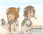 【艦これ】黄昏【電/深雪】