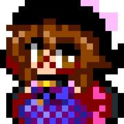 【アイロンビーズ用】菫子をドットいた
