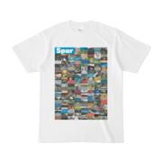 シンプルデザインTシャツ Spur=170(CYAN)