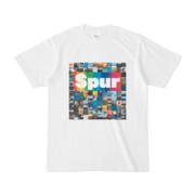 シンプルデザインTシャツ Spur_BOX104(RAINBOW)