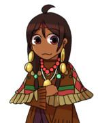 インディアンの少女