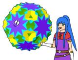 複合多面体と少女2
