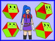 立方半八面体と少女