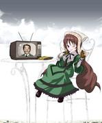 麻生太郎と翠星石のある風景