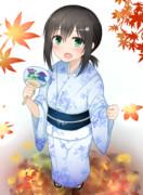 秋祭りの吹雪ちゃん。
