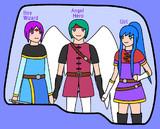 BAG (Boy-wizard, Angel-hero, Girl)