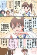 進水日をお祝いしてもらう加賀さん漫画