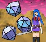 五角錐球形屋根と少女