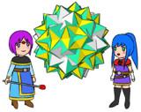 大変形十二・二十・十二面体、少年魔法使い、少女