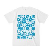 シンプルデザインTシャツ 四八シュプール(CYAN)