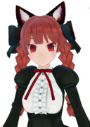 【MMDモデル配布中】火焔猫燐 求聞口授風【テスト版】