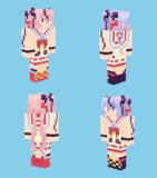 【Minecraft】鳴花ヒメ・ミコト:トーク衣装【旧スキン対応版】