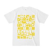 シンプルデザインTシャツ 四八シュプール(YELLOW)