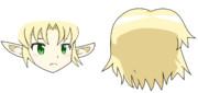 JOKER姉貴顔+前髪パーツと後髪パーツ