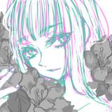 花に埋れる