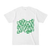 シンプルデザインTシャツ WAVE・MONSTER(GREEN)