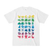 シンプルデザインTシャツ NET35☆MONSTER(RAINBOW)