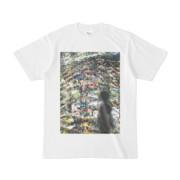 シンプルデザインTシャツ Epic ヒロイン植物WALL