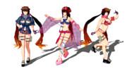 【Fate/MMD】アーチャー刑部姫三種【モデル配布】