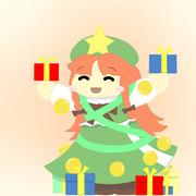 クリスマスツリーになってプレゼントを渡す美鈴
