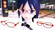 【MMDアクセサリ】アリスギアコラボっぽいメガネ【需要なんて知らね】