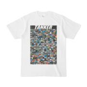 シンプルデザインTシャツ TANKER_300(BLACK)