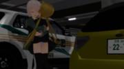 地下駐車場でイチャイチャしている占守と皐月
