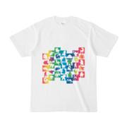 シンプルデザインTシャツ WAVE・MONSTER(RAINBOW)
