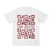シンプルデザインTシャツ GAME MONSTER(MAROON)