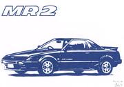 【切り絵】トヨタ MR2 (AW11)