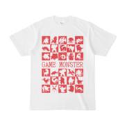シンプルデザインTシャツ GAME MONSTER(CRIMSON)