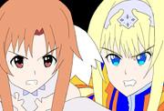 衝突する二輪の乙女たち