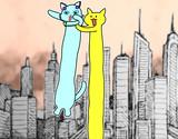 【ラミュ・すずねこ】たかいたかい【Longcat】