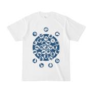 シンプルデザインTシャツ M_Ladybird(NAVY)