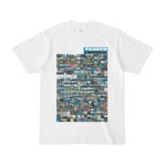 シンプルデザインTシャツ TANKER_on300(CYAN)