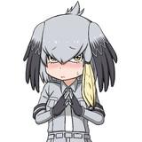 恥ずかしがるハシビロコウちゃん